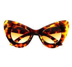 7 Freyrs Extra Large Oversized Cat Eye Sunglasses