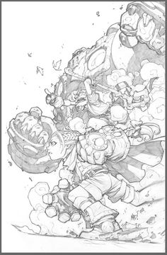 Joe Madureira Liked · 6 hours ago  Print #2: I have to admit, I got a nostalgic rush working on this one. Wish I didn't hit the end of the board! HAHA. Maybe I'll tape another board to it and turn it into a 2-page spread some day.
