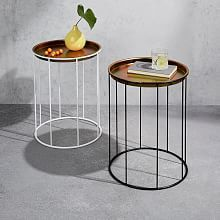 All Living Room West Elm Table Tray Console Tables Occasional Modern