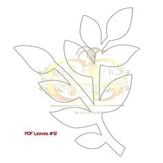 Paper Flowers PDF Leaves Sizes Easy to Trace n Cut image 1 Giant Paper Flowers, Felt Flowers, Diy Flowers, Origami Flowers, Leaf Template, Flower Template, Templates, Paper Flower Patterns, Paper Leaves