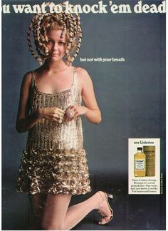 Musings from Marilyn » Designer Geoffrey Beene and Gold Listerine 1968