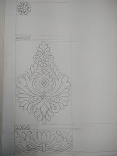 Drawing Indian Embroidery, Floral Embroidery, Ribbon Embroidery, Hand Embroidery Designs, Embroidery Patterns, Motif Design, Lace Design, Textile Design, Piping Patterns