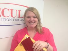 Director of Federal and State Affairs Kelly Damerow is super excited to show off the brick sent in by Melissa from Florida. Go Gators! #KnitABrick