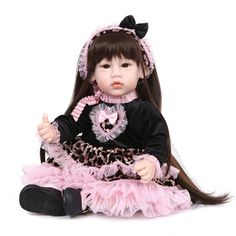 93.83$  Watch here - http://alinhp.worldwells.pw/go.php?t=32781685727 - 52cm lovely girl doll reborn cloth body silicone reborn babies princess dolls for children birthday gift bebe real alive bonecas