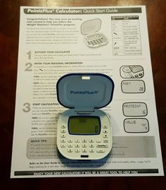 Weight Watchers Points Plus Calculator with Quick Start Guide Sheet…
