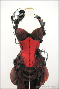 "Amazing ""Wild Roses"" corset by Royal Black"