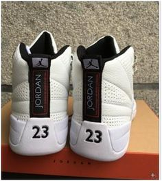 d21d689f91b Nike Air Jordan XII 12 Retro Rising Sun White Silver Men Shoes 130690-163  Air