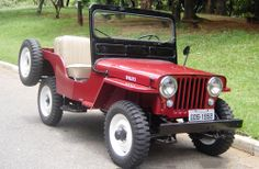 1952 Willys CJ-3A - I don't know why, but I love Willy jeeps. Perfect road trip. Open sides, tie down equipment under a tarp in the back and just go...