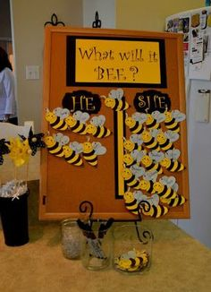 """Gender Reveal Party """"What will it Bee?"""" Cute! 