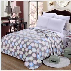 Dreaming Bubble Circles Warm Microplush Soft Flannel Fleece Blanket Throws Twin/Full/Queen/King Size Bed/Sofa/Air Cover Sheet #Affiliate