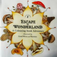 First page from Escape to Wonderland coloringbook Coloured by #zsuzsiko https://www.instagram.com/zsuzsicolouring/