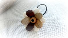Wooden flower ponytail holder Multicolor  by TheWoodenTreasures, $10.00