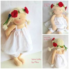 Lena Lotta an 18'' Waldorf doll by MonPilou on Etsy