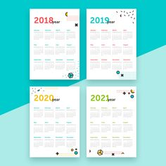 Calendar Printable  Year Calendar   Through