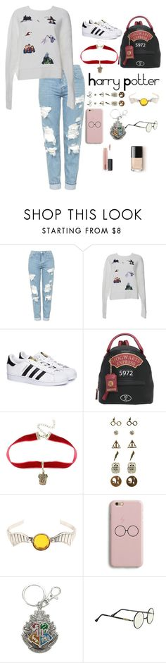 """""""Harry Potter"""" by grace-granger on Polyvore featuring Topshop, Ground-Zero, adidas, Warner Bros., Samsung, MAC Cosmetics, outfit and harrypotter"""