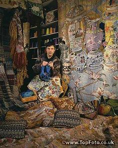 Kaffe Fassett 1987 (born 1937 in San Francisco, California) - must have been his grey and brown period!!!