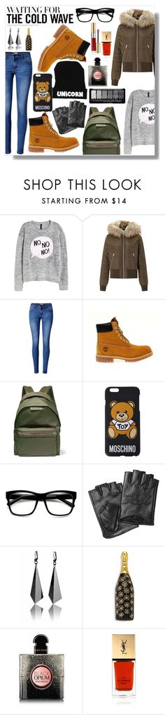 """""""Ma style"""" by lory-x ❤ liked on Polyvore featuring H&M, Miss Selfridge, WithChic, Timberland, STELLA McCARTNEY, Moschino, ZeroUV, Karl Lagerfeld, Marc Jacobs and Yves Saint Laurent"""