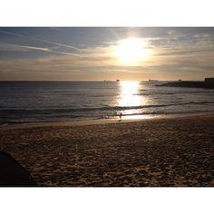 Praia de São Pedro no final do dia
