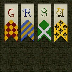 Hogwarts banners paper...Maybe this will be a simple way to do the banners...if that is still happening!