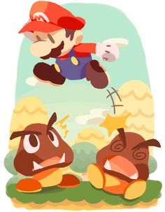 Leap by ~aouli on deviantART -- Gotta love the Paper Mario style
