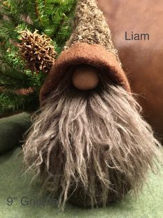 LIam-Upcycled wool gnome made by Margaret Staron
