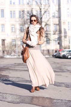 Maxi skirt for winter ** really like the color**