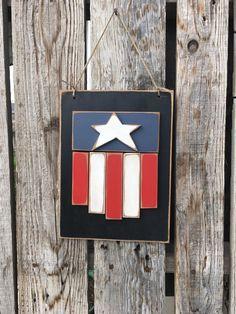 Americana flag Stars and Stripes wood sign summer by jodyaleavitt