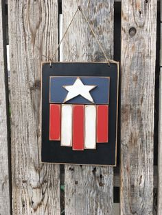 Americana flag Stars and Stripes wood sign summer by jodyaleavitt