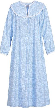 c3c2a4388e Lanz Vintage Floral Flannel Gown Flannel Nightgown