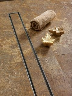 example of curbless drain for brother's shower - QuARTz by ACO Tile In-Lay Linear 27 Grid Shower Drain Bathroom Drain, Shower Drain, Shower Floor, Bathroom Towels, Bathroom Sets, Small Bathroom, Master Bathroom, Brown Bathroom, Ada Bathroom