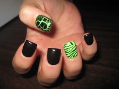 Funky nails with Zebra and Croco fever