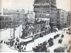 Before the Flatiron Building went up on the same lot, New York City. Vintage NYC photo.