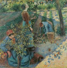 camille pissarro(1830-1903), apple picking, 1886. oil on canvas, 126 x 127 cm. ohara museum of art, kurashiki, japan http://www.the-athenaeum.org/art/detail.php?ID=12702; http://www.ohara.or.jp/200707/eng/1_web/exh/1/019.html