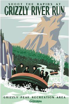 Grizzly River Run Poster at Disney California Adventure Temporary Entrance Walls Retro Disney, Vintage Disney Posters, Disney Movie Posters, Vintage Disneyland, Disney Love, Disney Stuff, Walt Disney, Disney Magic, Disneyland Rides