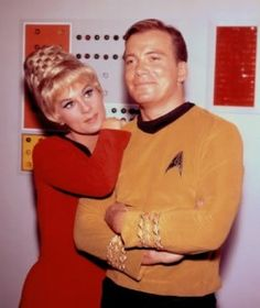 A TOS Publicity still of William Shatner & Grace Lee Whitney as Captain Kirk & Yeoman Janice Rand, Rand was supposed to be kirks love interest d. William Shatner + Grace Whitney - Kirk and Rand Star Trek Original Series, Star Trek Series, Science Fiction, Gotham, Akira, Star Trek Cast, Star Trek 1966, Star Trek Images, Star Trek Characters