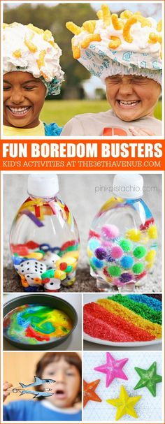 Peel your kids away from the television and have fun with these boredom busters. Perfect summer actives for kids. SwaySummer