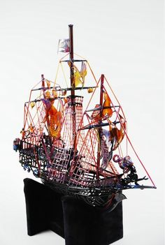 Pirate Ship by Buck, LaceFace and Joe O'Connel | Community Post: 15 Pieces Of Glass Art That You Wouldn't Believe Are Pipes
