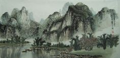 Chinese art-Guilin by BirilliGattino101 on DeviantArt. I have been to Guilin and this is a fantastic representation