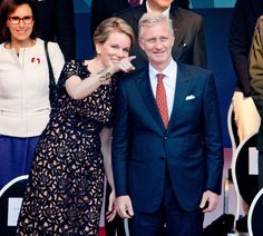 Queen Mathilde and beautiful King Philippe <3