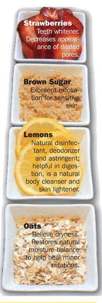 Skin Care - All natural foods for #skin #care. I've used oats for sunburns!
