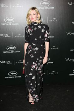 Kirsten Dunst en robe fleurie Kirsten Dunst attends the Kering diner during the 69th Annual Cannes Film Festival in Cannes, southern France on May 15, 2016. Photo by Jerome Domine/ABACAPRESS.COM | 546963_117 Cannes France