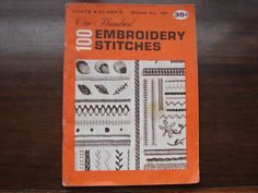 Coats & Clark's One Hundred Embroidery Stitches Sewing Book by BackStageVintageShop on Etsy