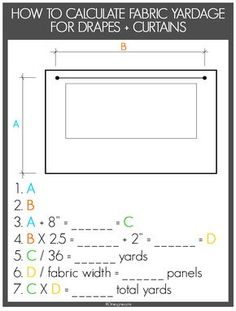 How to calculate yardage for curtains.