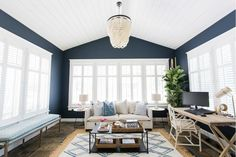 Cottage/Country Living Room Design Photo by Design Shop Interiors