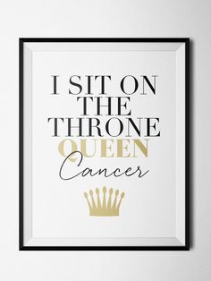 Cancer Throne Print