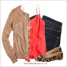 CHATA'S DAILY TIP: Invest in a comfortable cardigan in a neutral colour; it will remain in fashion for years to come. Combine it with bright colours like orange (perfect for all skin tones) and/or an interesting print. Add on-trend animal printed shoes for the element of interest. COPY CREDIT: Chata Romano Image Consultant, Marlise du Plessis http://chataromano.com/consultant/marlise-duplessis/ IMAGE CREDIT: Pinterest #chataromano #imageconsultant #colour #style #fashion