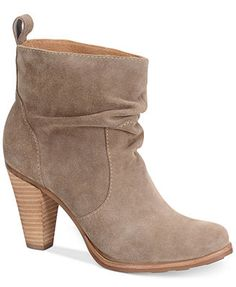 Sofft Toby Slouch Ankle Bootie suede stone taupe; leather black 3.25h (139.00) 3/15 NA