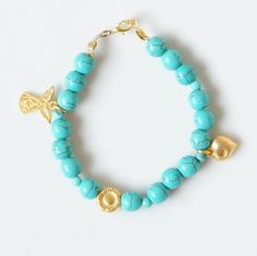 Hey, I found this really awesome Etsy listing at https://www.etsy.com/listing/169900915/turquoise-bracelet-with-gold-plated