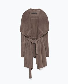 Image 7 of LONG SUEDE JACKET from Zara