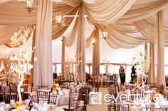 When done right drapery can take your wedding venue from pretty to pretty amazing in one second! Here are 15 Fabulous Ideas